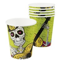 Day of the Dead Pappbecher 6er Set