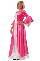 Barock Rokoko Faschings Prinzessin Kleid Stretch pink