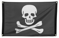 Piratenflagge Piratenfahne Piratenzubehör 90x60 cm