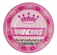 6 Pappteller Prinzessin Party
